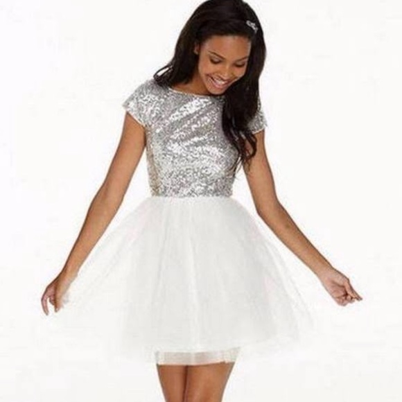 Silver Tulle Dress